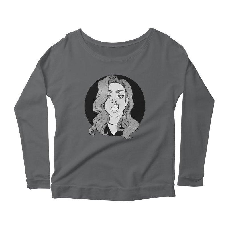 The Sneer Women's Scoop Neck Longsleeve T-Shirt by The Shop of K. Lynn Smith