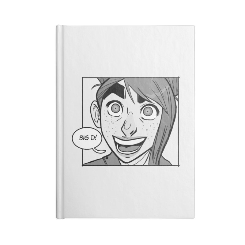 Big D! Accessories Lined Journal Notebook by The Shop of K. Lynn Smith