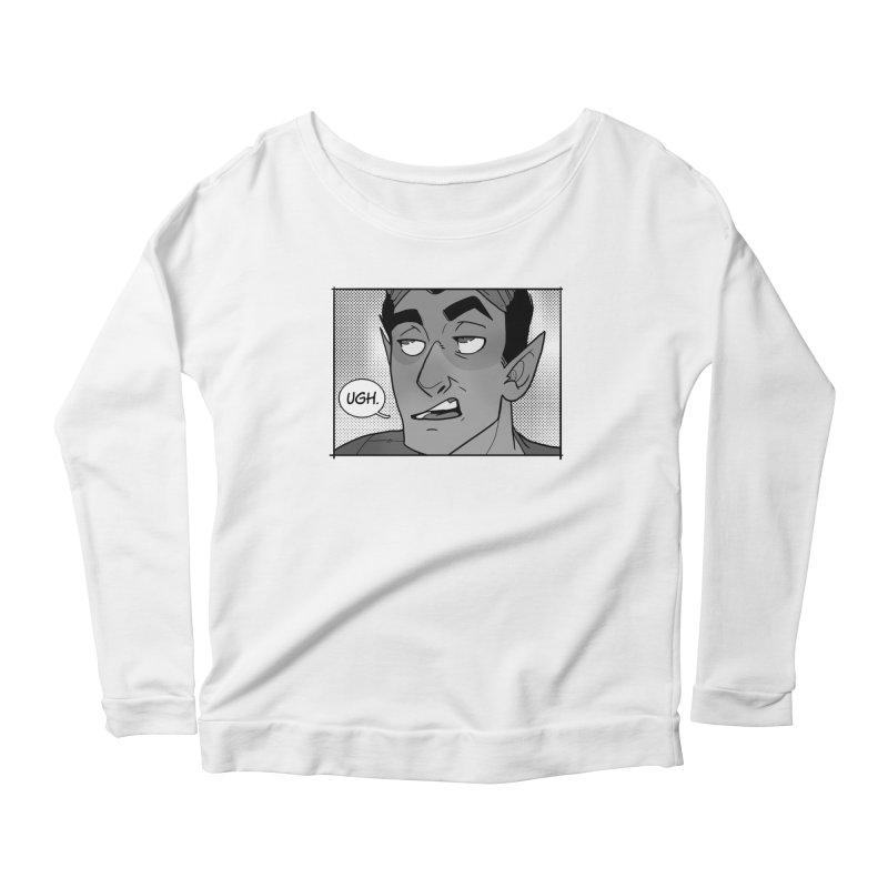 Ugh. Women's Scoop Neck Longsleeve T-Shirt by The Shop of K. Lynn Smith