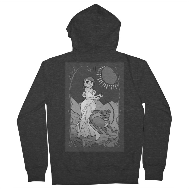 The Fool Men's French Terry Zip-Up Hoody by The Shop of K. Lynn Smith