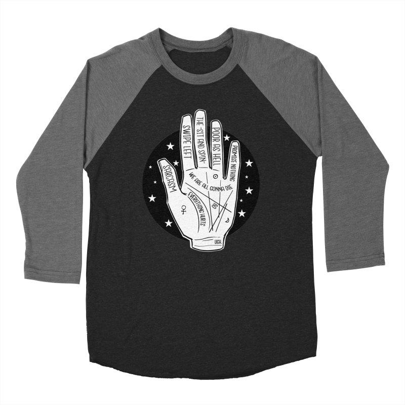 Talk to the Hand Men's Baseball Triblend Longsleeve T-Shirt by The Shop of K. Lynn Smith