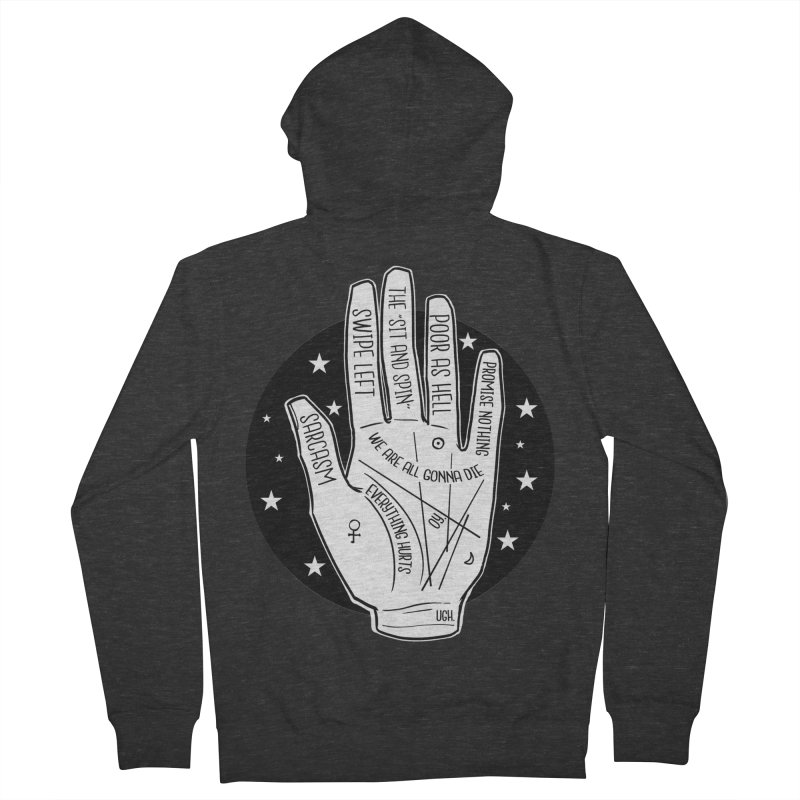 Talk to the Hand Men's French Terry Zip-Up Hoody by The Shop of K. Lynn Smith