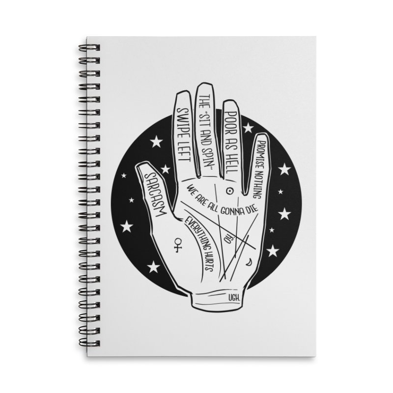 Talk to the Hand Accessories Lined Spiral Notebook by The Shop of K. Lynn Smith