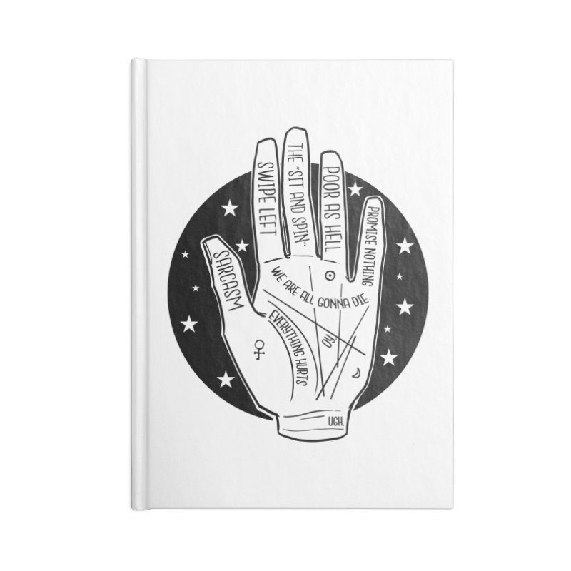 Talk to the Hand Accessories Lined Journal Notebook by The Shop of K. Lynn Smith