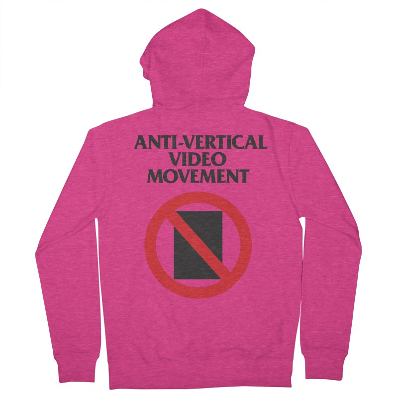 Anti-Vertical Video Movement Women's Zip-Up Hoody by KNIVED COMPLEX