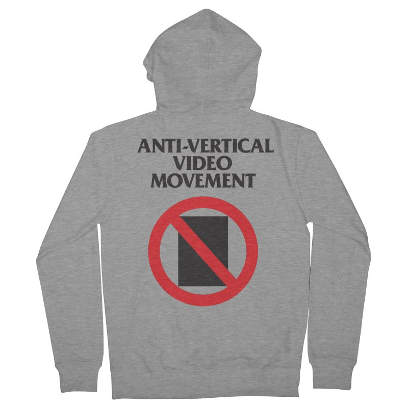 Anti-Vertical Video Movement Men's Zip-Up Hoody by KNIVED COMPLEX