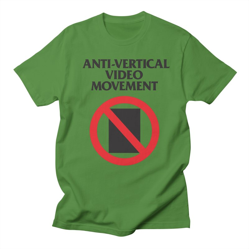 Anti-Vertical Video Movement Men's T-shirt by KNIVED COMPLEX