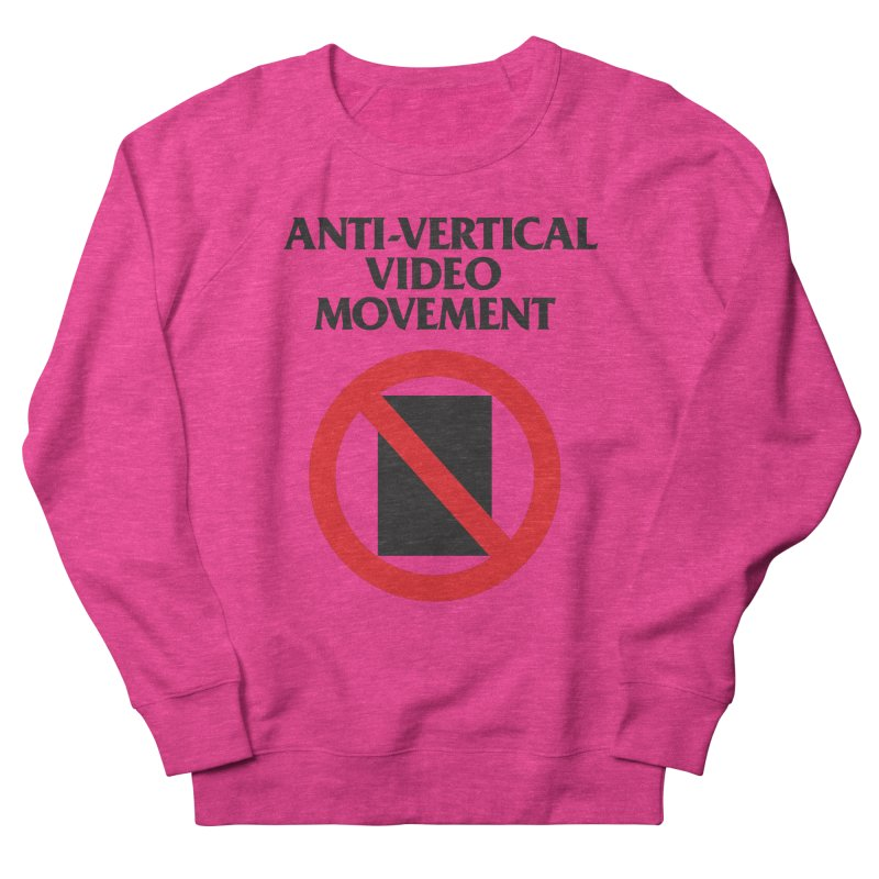 Anti-Vertical Video Movement Women's Sweatshirt by KNIVED COMPLEX