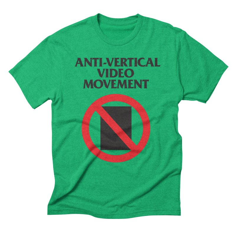 Anti-Vertical Video Movement Men's Triblend T-Shirt by KNIVED COMPLEX