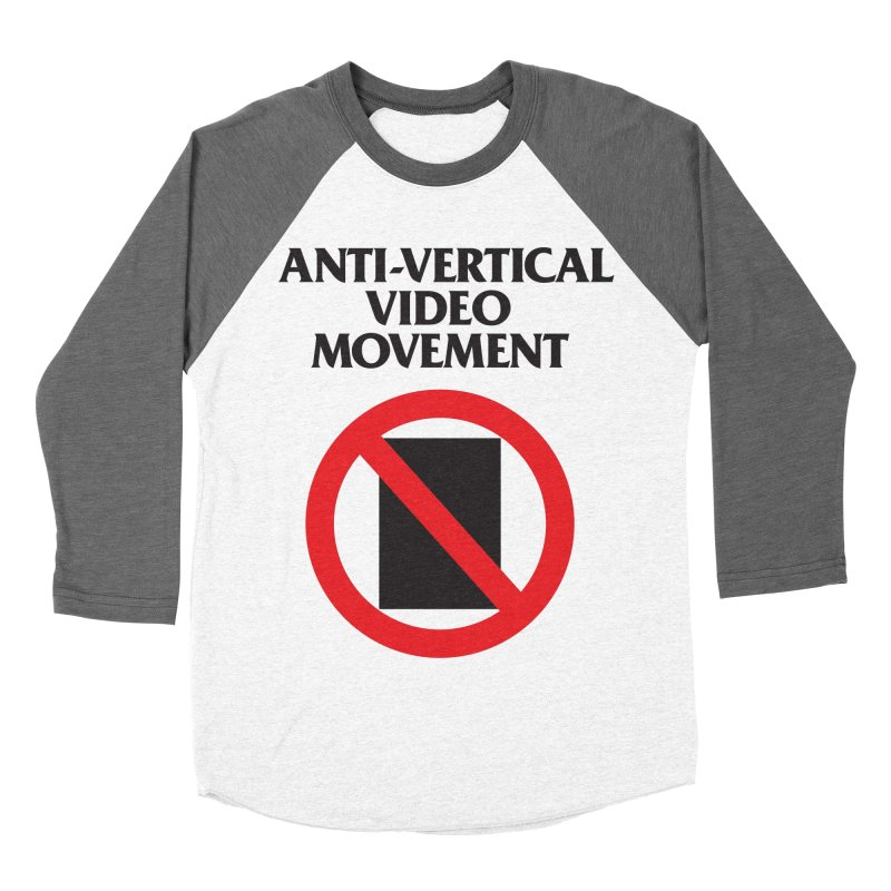 Anti-Vertical Video Movement Women's Baseball Triblend T-Shirt by KNIVED COMPLEX