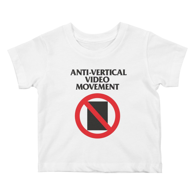 Anti-Vertical Video Movement Kids Baby T-Shirt by KNIVED COMPLEX