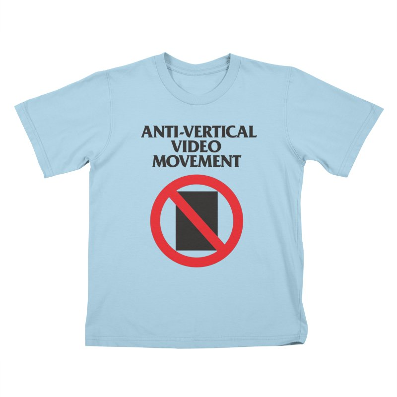 Anti-Vertical Video Movement Kids T-shirt by KNIVED COMPLEX