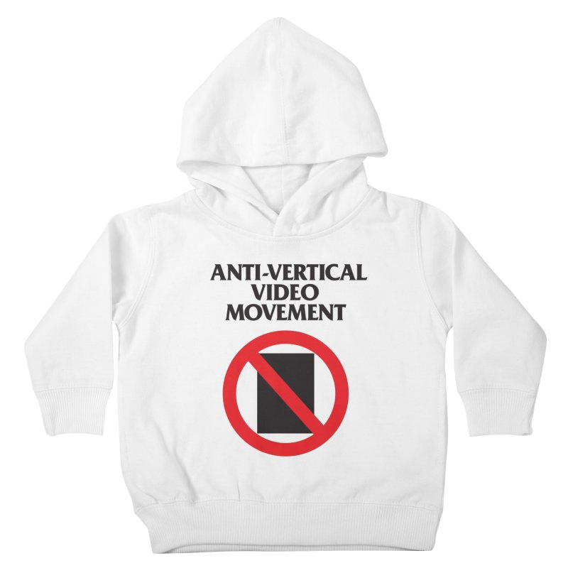 Anti-Vertical Video Movement Kids Toddler Pullover Hoody by KNIVED COMPLEX