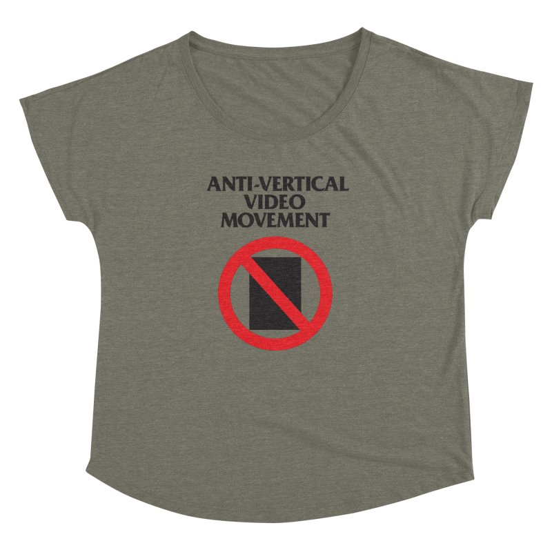 Anti-Vertical Video Movement Women's Dolman by KNIVED COMPLEX