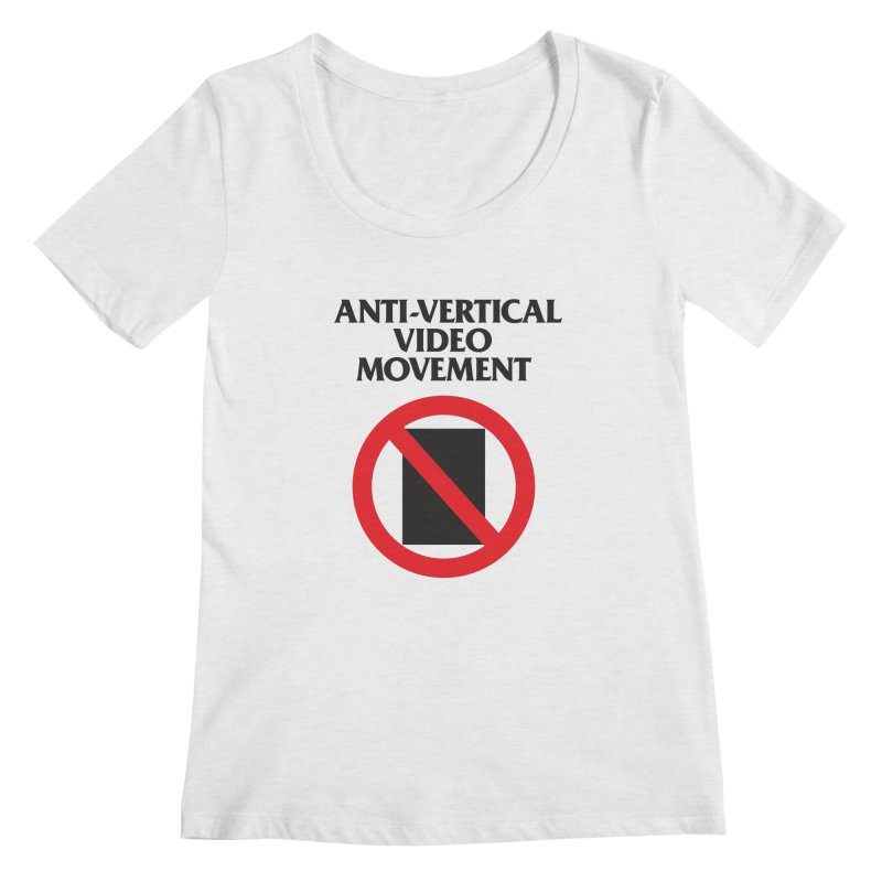 Anti-Vertical Video Movement Women's Scoopneck by KNIVED COMPLEX