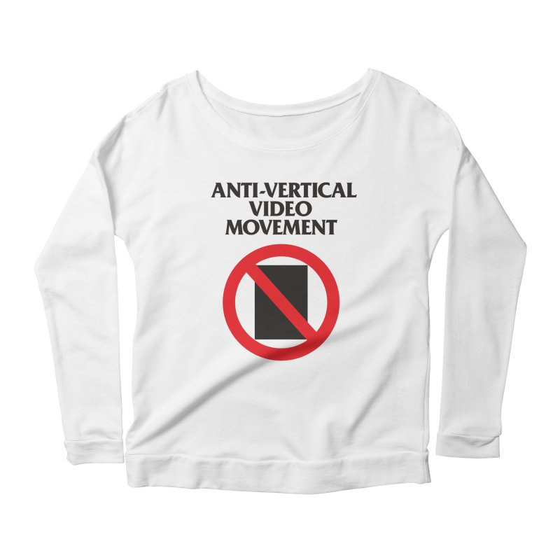 Anti-Vertical Video Movement Women's Longsleeve Scoopneck  by KNIVED COMPLEX