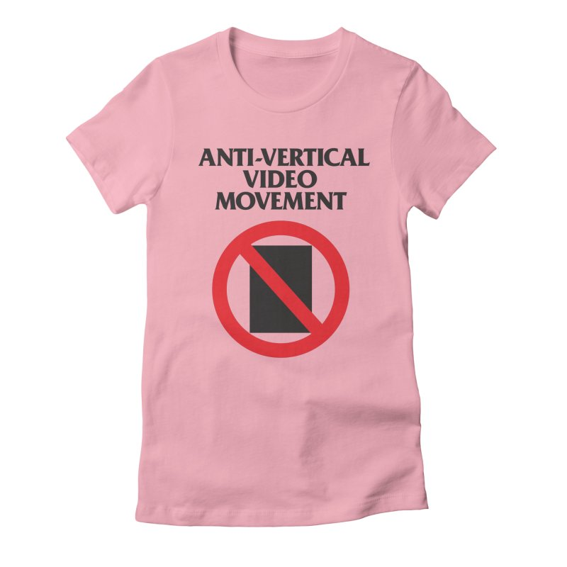 Anti-Vertical Video Movement Women's Fitted T-Shirt by KNIVED COMPLEX