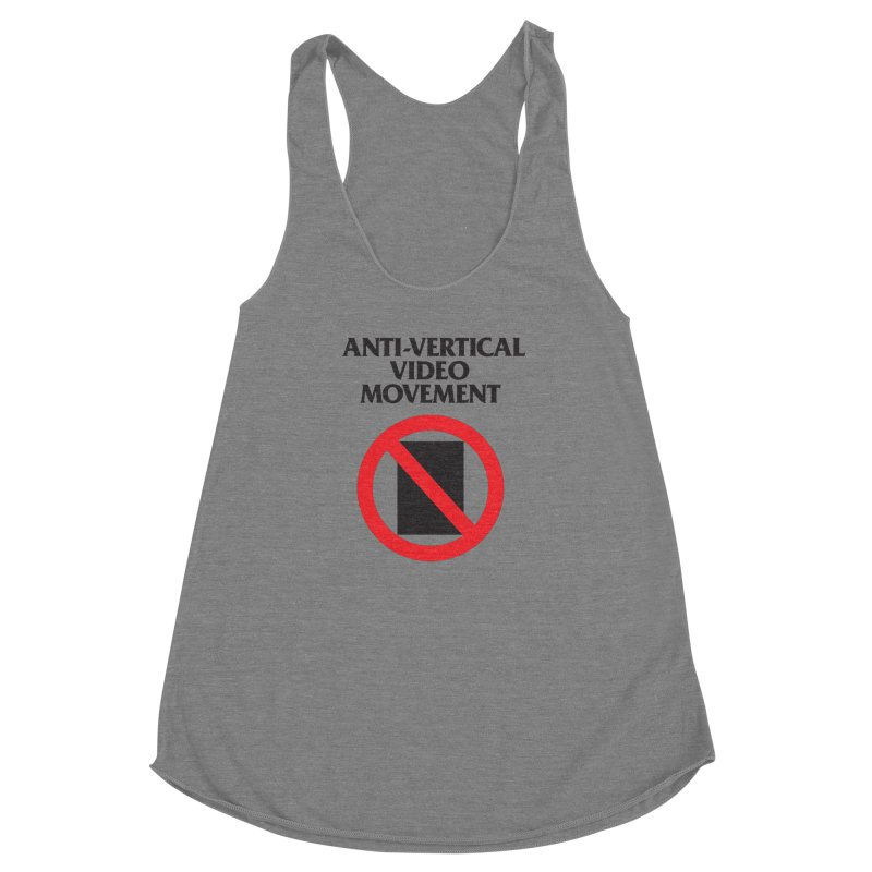 Anti-Vertical Video Movement Women's Racerback Triblend Tank by KNIVED COMPLEX