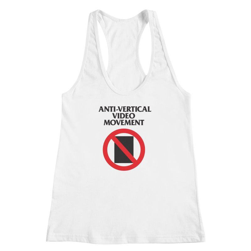 Anti-Vertical Video Movement Women's Racerback Tank by KNIVED COMPLEX