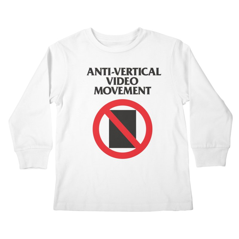 Anti-Vertical Video Movement Kids Longsleeve T-Shirt by KNIVED COMPLEX