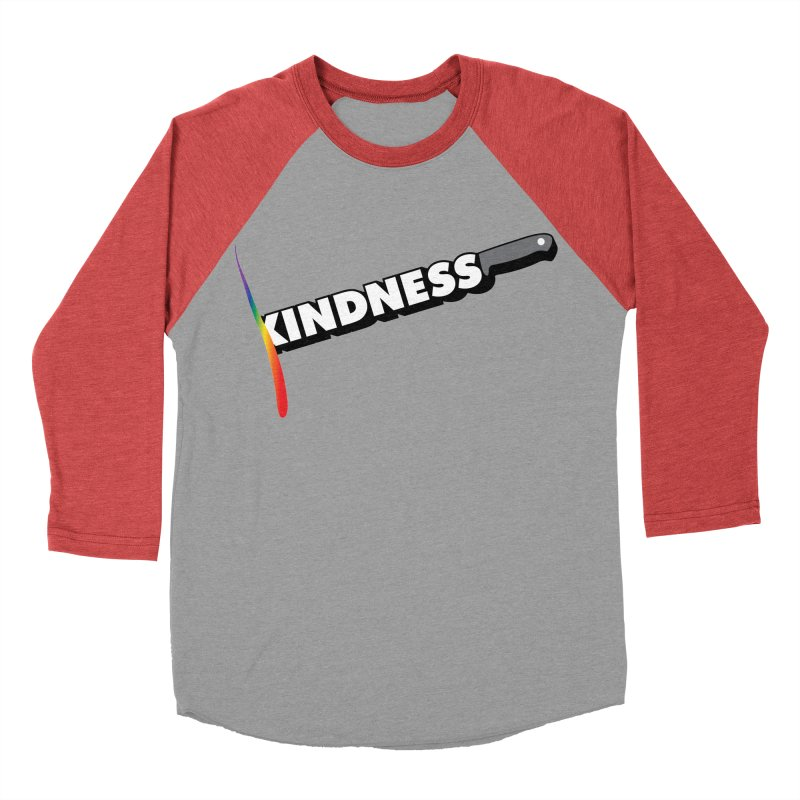 Kill Them With Kindness Men's Baseball Triblend T-Shirt by KNIVED COMPLEX