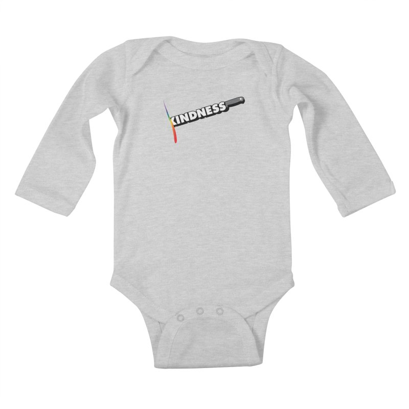 Kill Them With Kindness Kids Baby Longsleeve Bodysuit by KNIVED COMPLEX