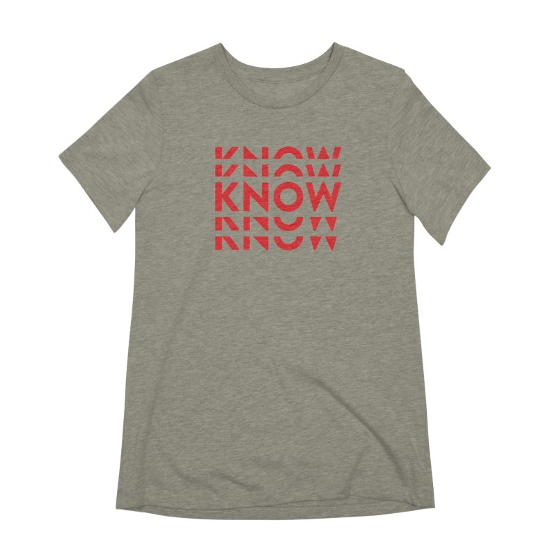 KNOW New Friends (Red) Women's Extra Soft T-Shirt by KNOW Identity