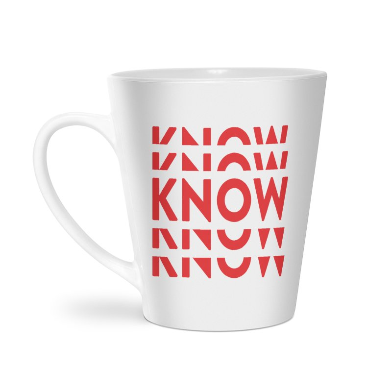 KNOW New Friends (Red) Accessories Latte Mug by KNOW Identity