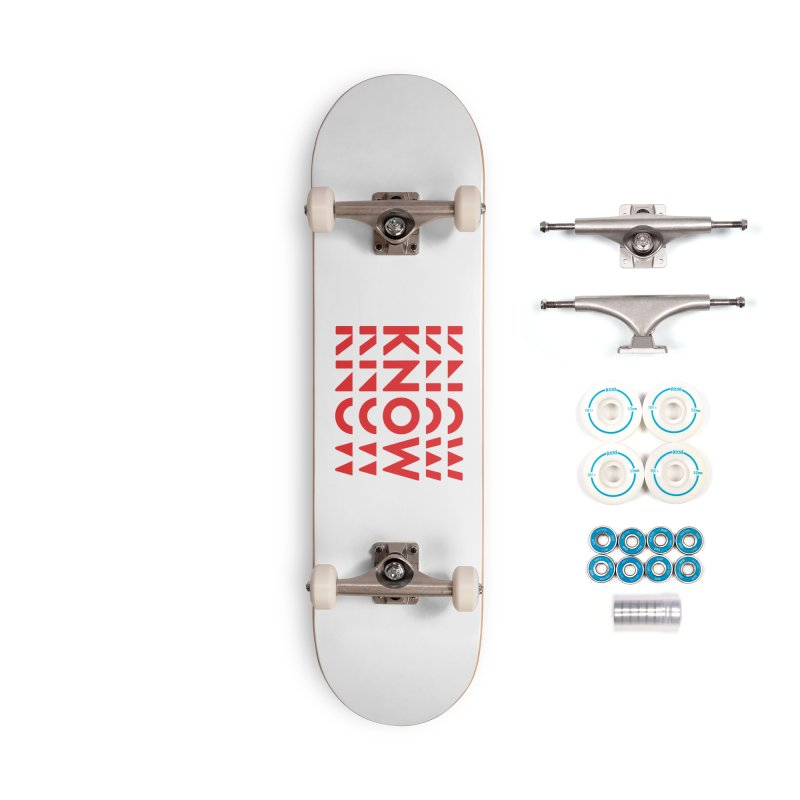 KNOW New Friends (Red) Accessories Complete - Basic Skateboard by KNOW Identity