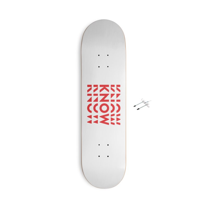 KNOW New Friends (Red) Accessories With Hanging Hardware Skateboard by KNOW Identity