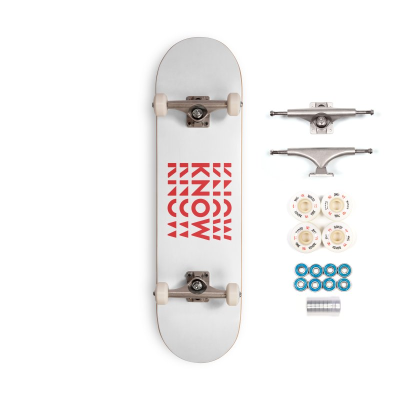 KNOW New Friends (Red) Accessories Complete - Premium Skateboard by KNOW Identity