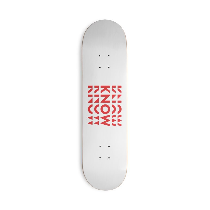 KNOW New Friends (Red) Accessories Deck Only Skateboard by KNOW Identity