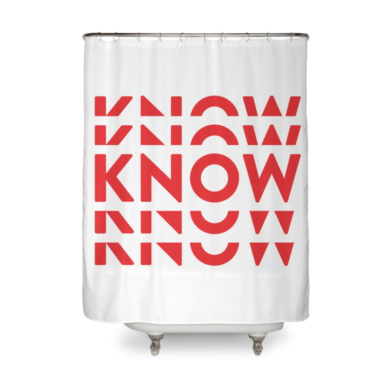 KNOW New Friends (Red) Home Shower Curtain by KNOW Identity
