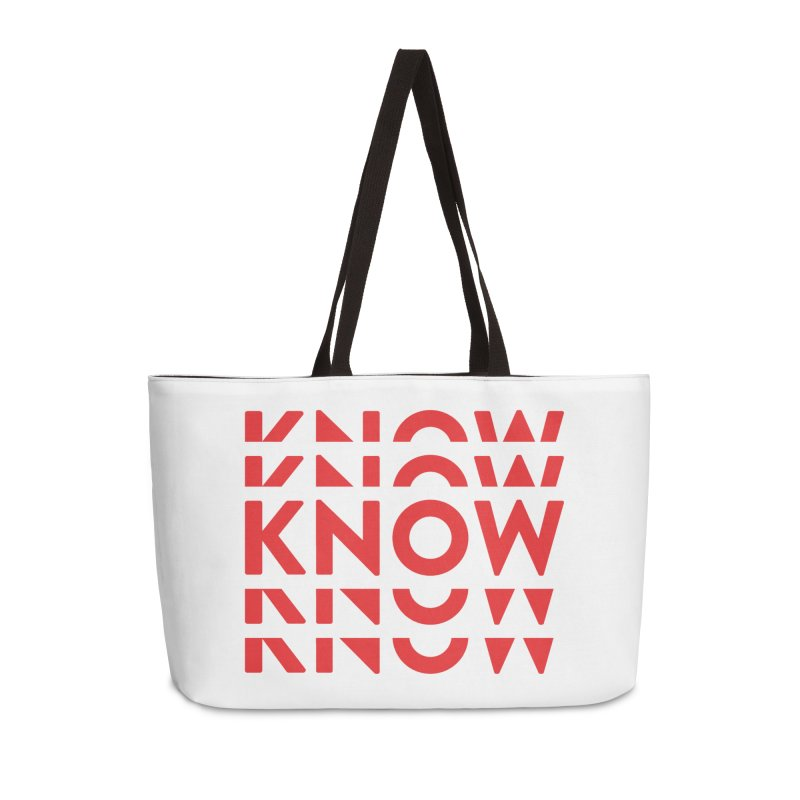 KNOW New Friends (Red) Accessories Weekender Bag Bag by KNOW Identity