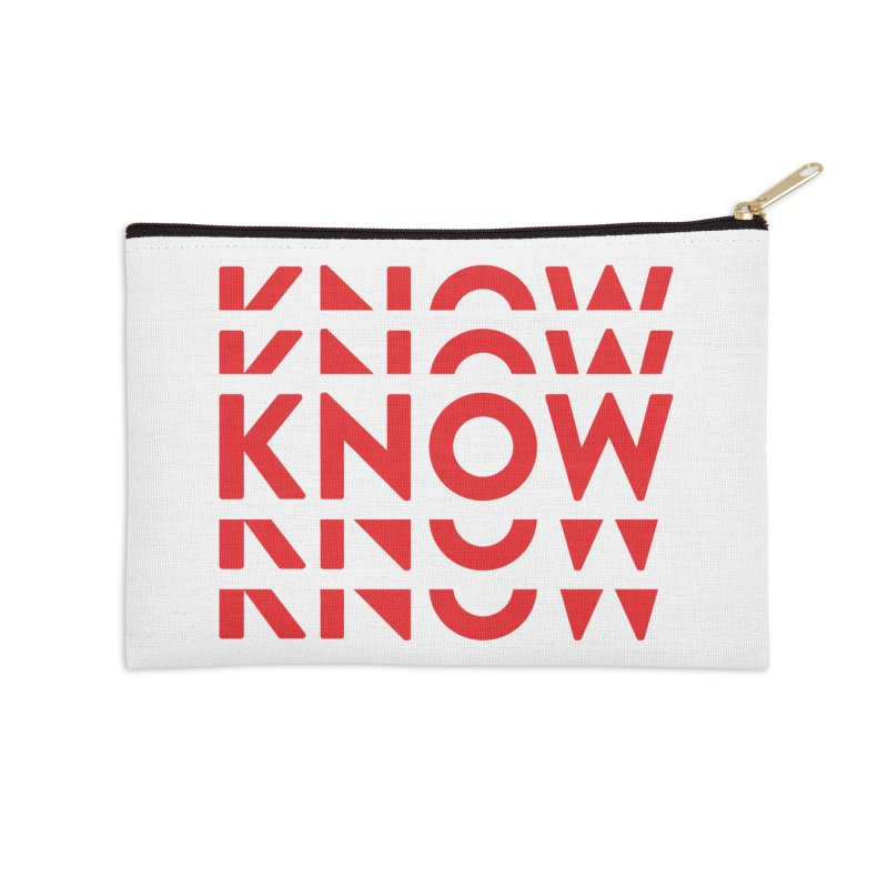 KNOW New Friends (Red) Accessories Zip Pouch by KNOW Identity