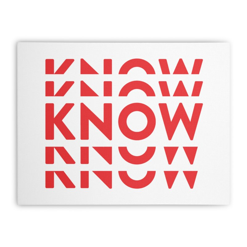 KNOW New Friends (Red) Home Stretched Canvas by KNOW Identity