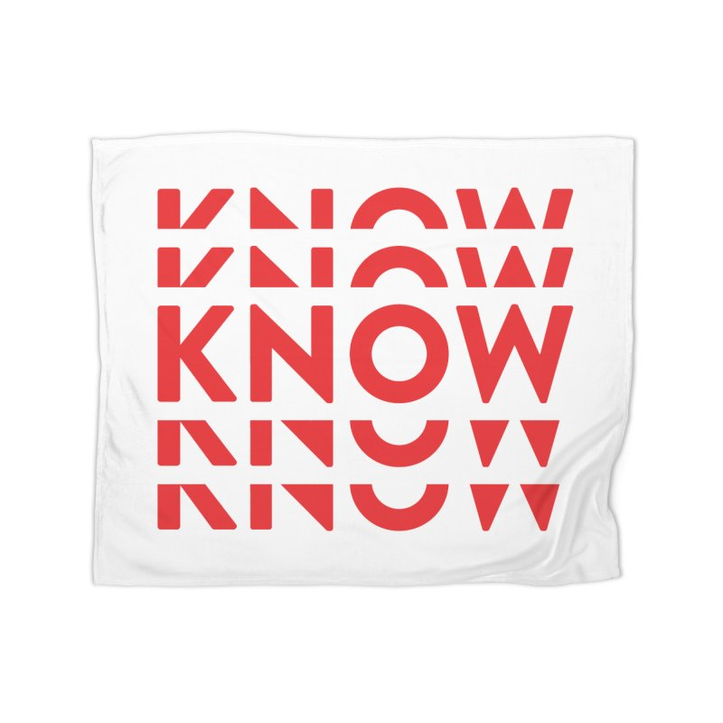 KNOW New Friends (Red) Home Fleece Blanket Blanket by KNOW Identity