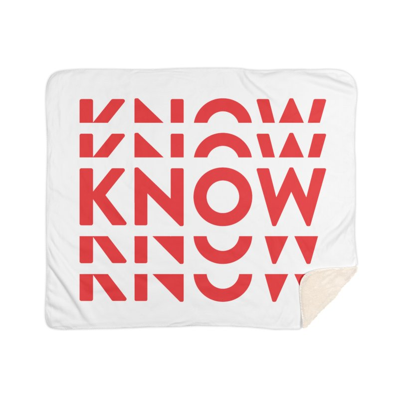 KNOW New Friends (Red) Home Sherpa Blanket Blanket by KNOW Identity