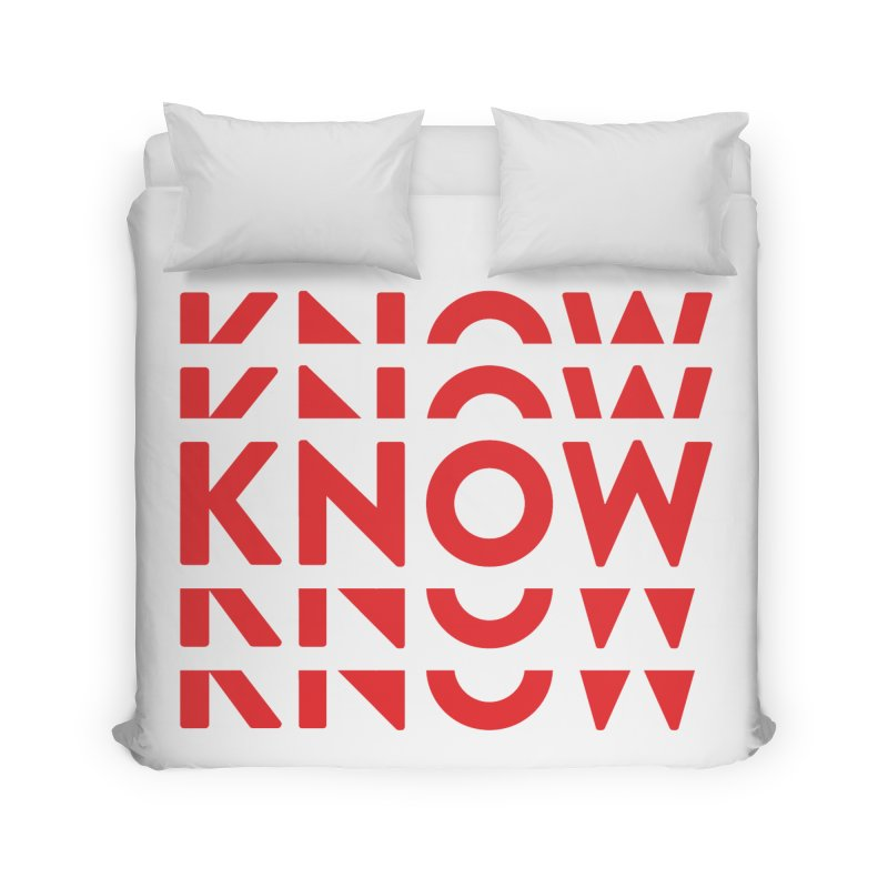 KNOW New Friends (Red) Home Duvet by KNOW Identity