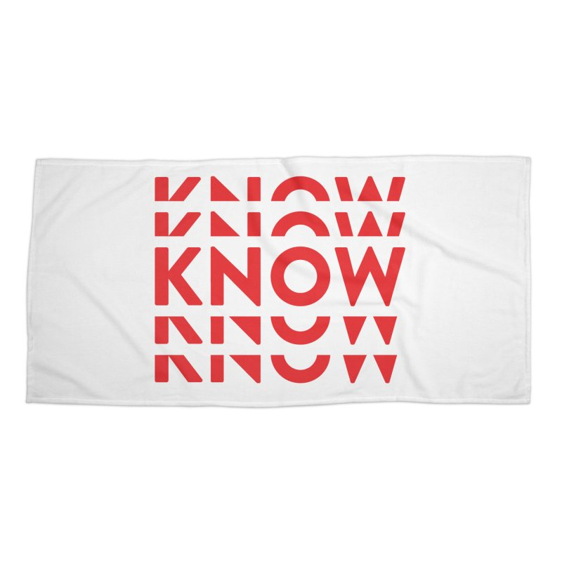 KNOW New Friends (Red) Accessories Beach Towel by KNOW Identity