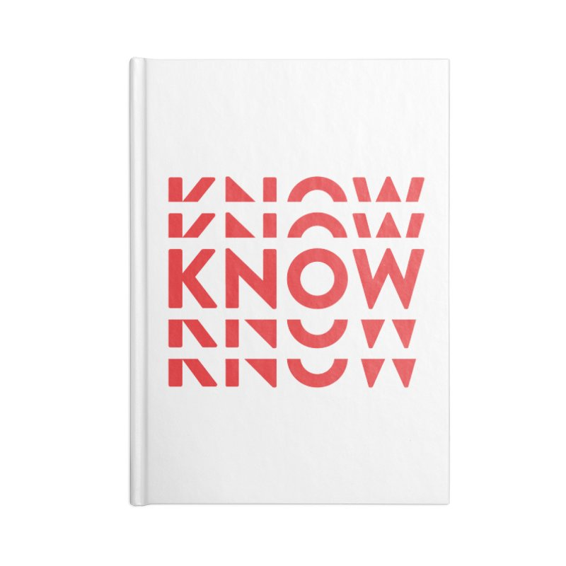 KNOW New Friends (Red) Accessories Lined Journal Notebook by KNOW Identity