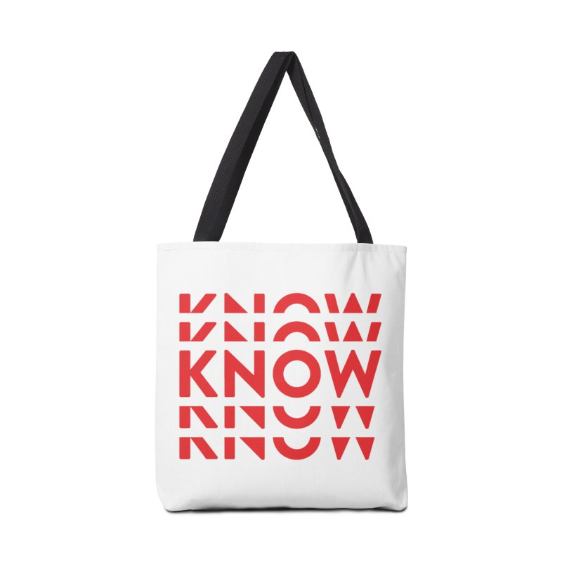 KNOW New Friends (Red) Accessories Tote Bag Bag by KNOW Identity
