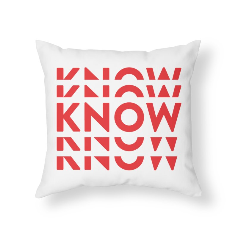 KNOW New Friends (Red) Home Throw Pillow by KNOW Identity