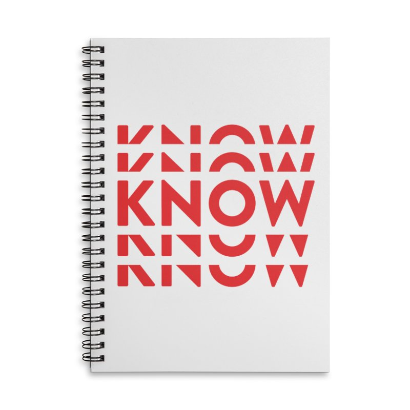 KNOW New Friends (Red) Accessories Lined Spiral Notebook by KNOW Identity