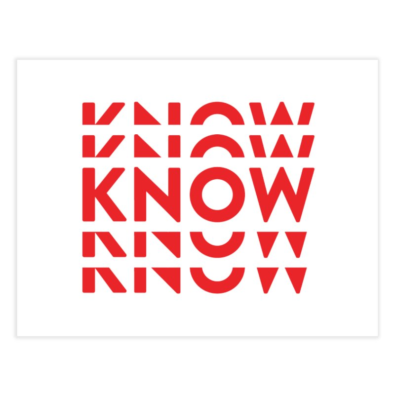 KNOW New Friends (Red) Home Fine Art Print by KNOW Identity