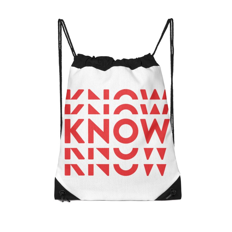 KNOW New Friends (Red) Accessories Drawstring Bag Bag by KNOW Identity