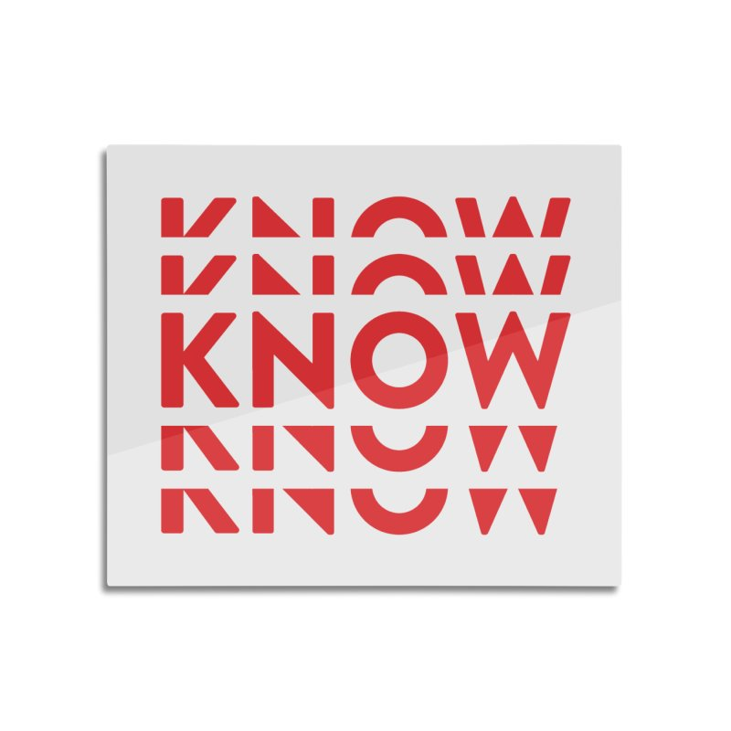 KNOW New Friends (Red) Home Mounted Aluminum Print by KNOW Identity