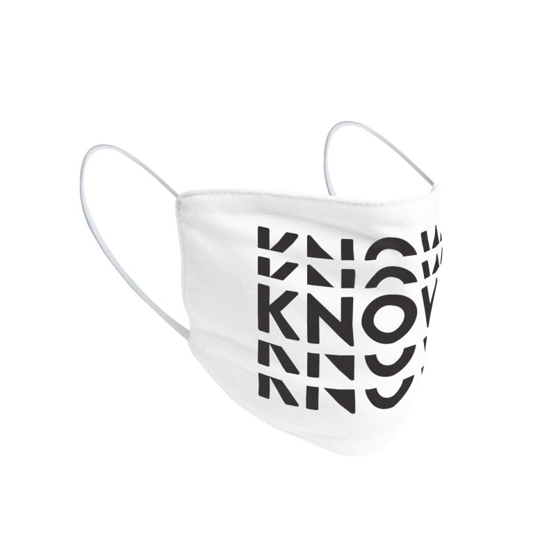 KNOW New Friends (Black) Accessories Face Mask by KNOW Identity