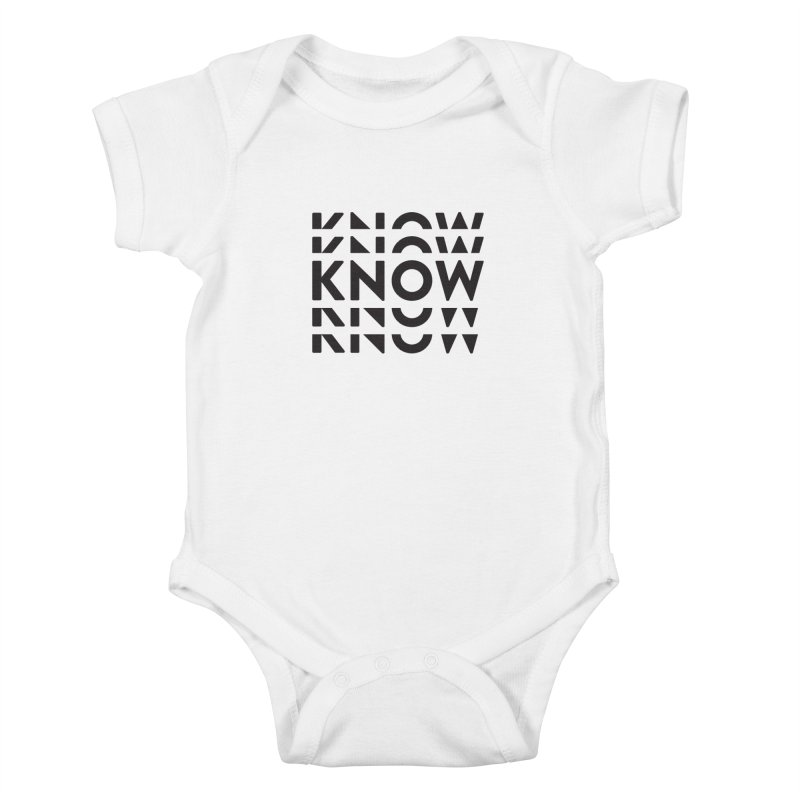 KNOW New Friends (Black) Kids Baby Bodysuit by KNOW Identity