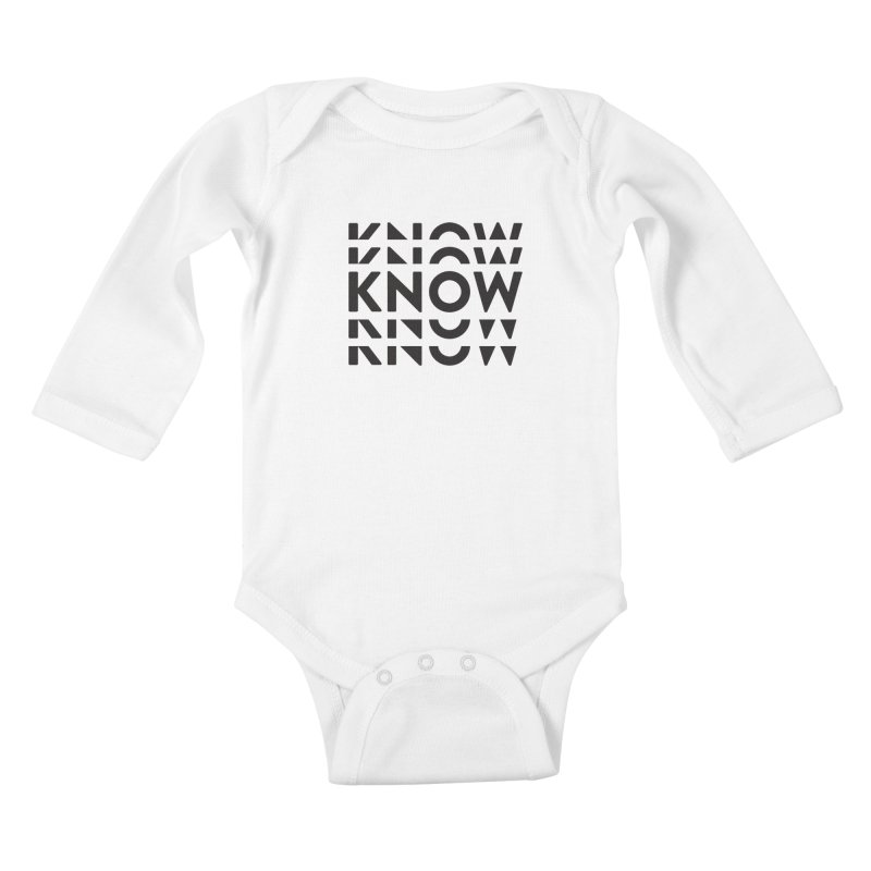 KNOW New Friends (Black Text) Kids Baby Longsleeve Bodysuit by KNOW Identity